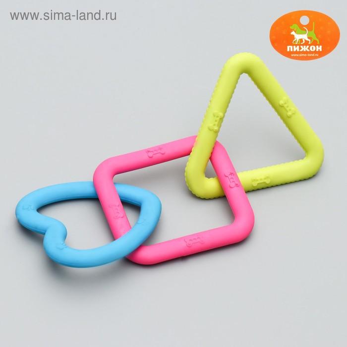 """Игрушка жевательная """"3 фигуры"""" 22 см, термопластичная резина, микс цветов"""