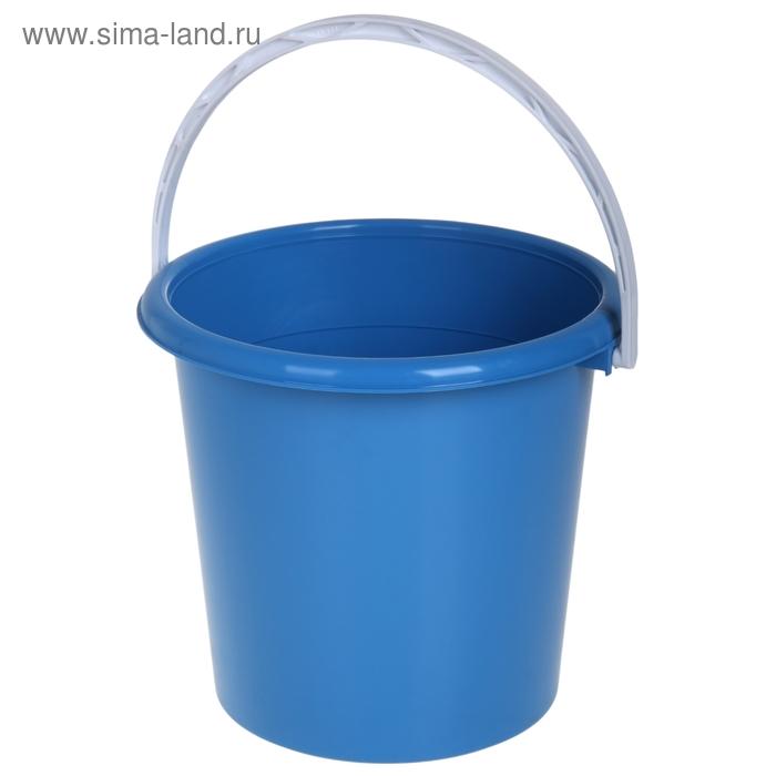 Ведро 12 л с ручкой, цвет голубой