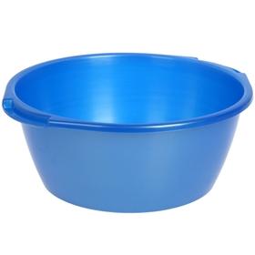Таз 13 л, цвет голубой с перламутром Ош