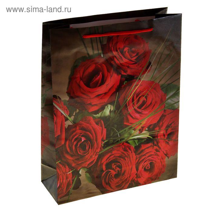 """Пакет ламинированный """"Красные розы"""""""