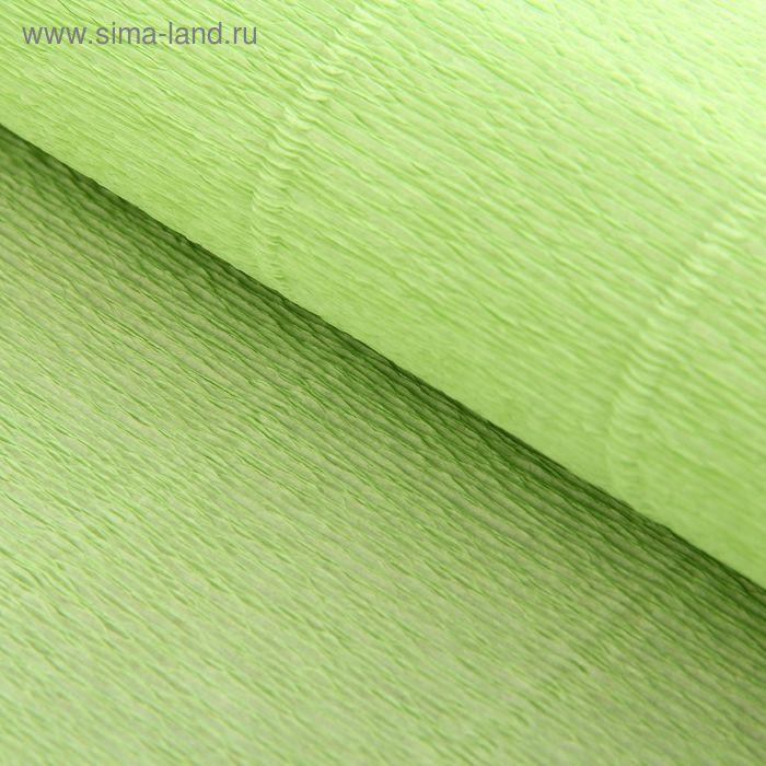Бумага гофрированная 566 светло-салатовая, 50 см х 2,5 м
