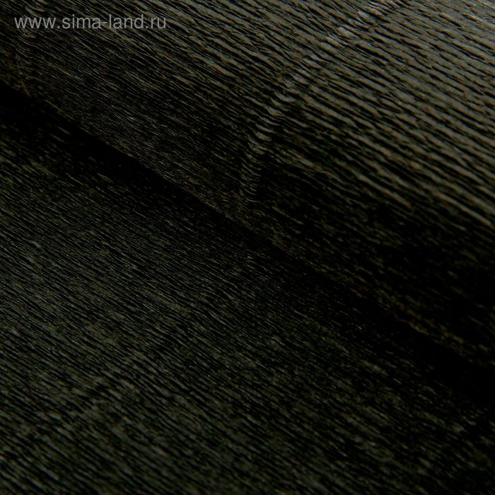 Бумага гофрированная 602 черная, 50 см х 2,5 м