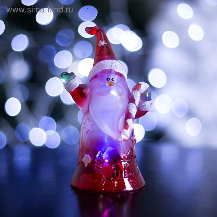 """Игрушка световая """"Дед мороз с леденцом"""" (батарейки в комплекте) 1 LED, RGB"""