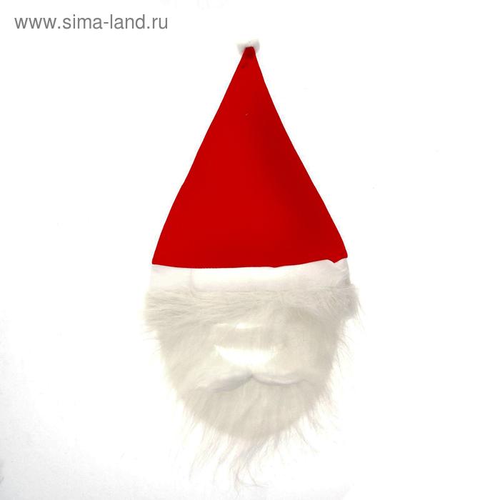 "Новогодний колпак ""Дед Мороз с бородой, усами"""
