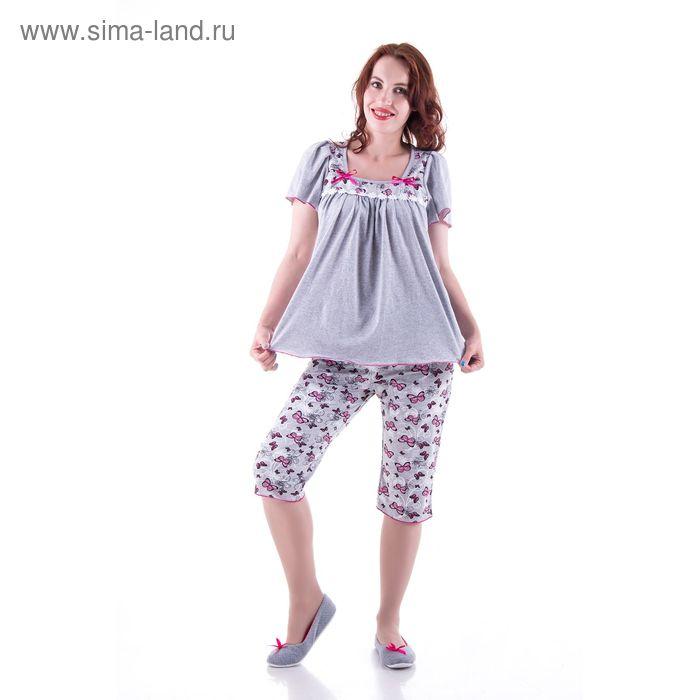 Пижама женская (туника, бриджи) п31 МИКС, р-р 58