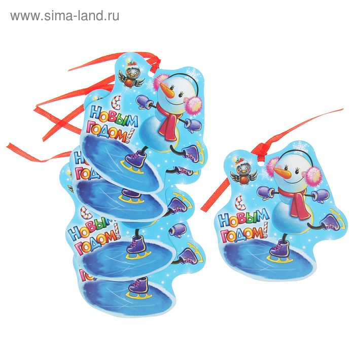 """Декоративный шильдик на подарок """"Снеговик"""""""