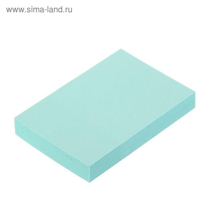 Блок с липким краем 51х76мм 100 листов, голубой