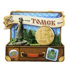 """Магнит в форме чемодана """"Томск"""""""