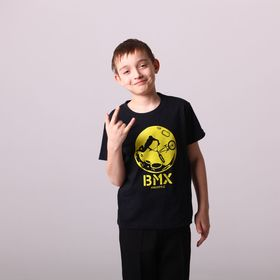 """Футболка детская Collorista Glow """"BMX"""", рост 134-140 см (36), 9-10 лет"""