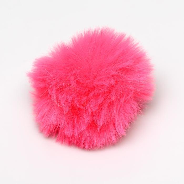 """Игрушка для кошек """"Меховой шарик"""", 5 см, искусственный мех, микс цветов"""