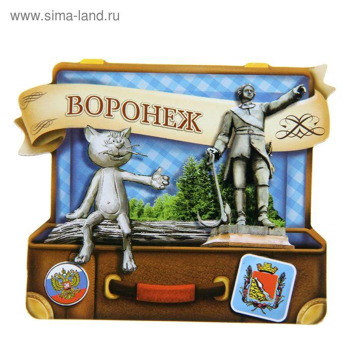 """Магнит в форме чемодана """"Воронеж"""""""