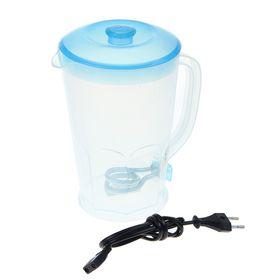 Чайник электрический Irit IR-1117, 1.8 л, 600 Вт, голубой, прозрачный