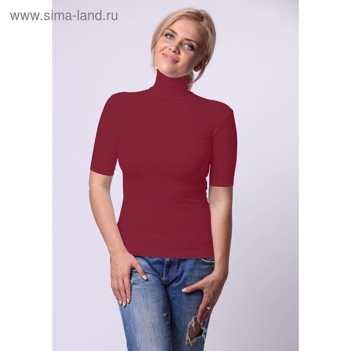Водолазка женская с высоким воротом и коротким рукавом Collorista, размер 46-48 (L/XL), цвет красный