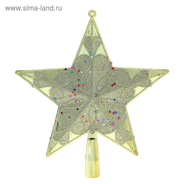 """Звезда на ёлку """"Золотой рисунок"""""""
