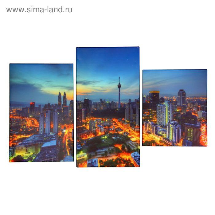 """Модульная картина на холсте с подрамником """"Шанхай"""""""