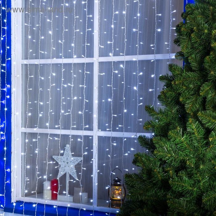 ЗАНАВЕС уличная, УМС, Ш:2 м, В:3 м, Н.Б. 3W LED-760-220V, БЕЛЫЙ