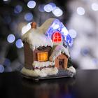 """Фигурка светящаяся """"Новогодний домик"""" 9.5 х 7 х 10 см, 4 LED"""