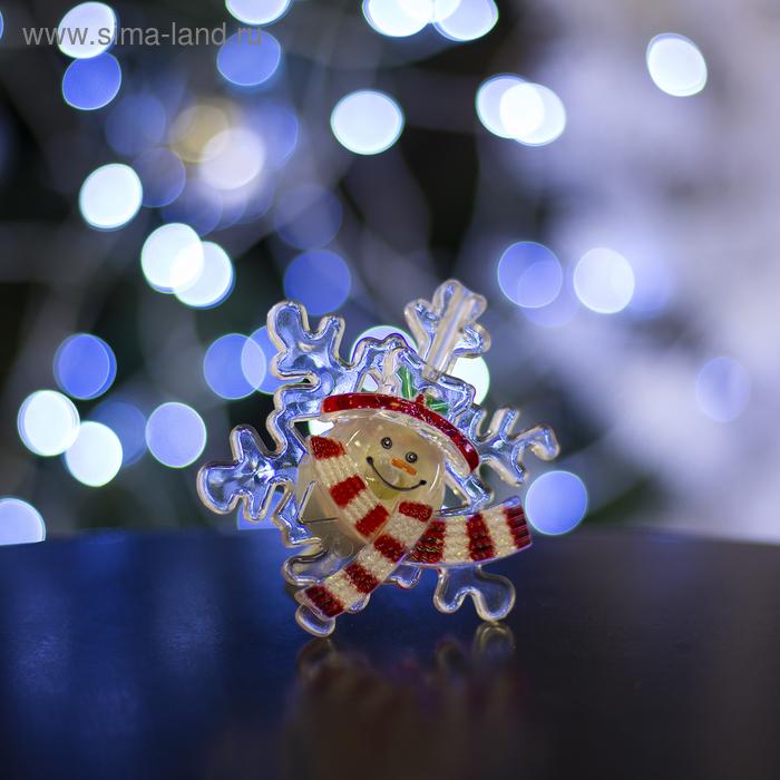 """Игрушка световая """"Снежинка от снеговика"""" (батарейки в комплекте) 1 LED, RGB"""