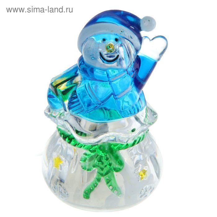 """Игрушка световая """"Подарок от снеговика"""" (батарейки в комплекте) 1 LED, RGB"""