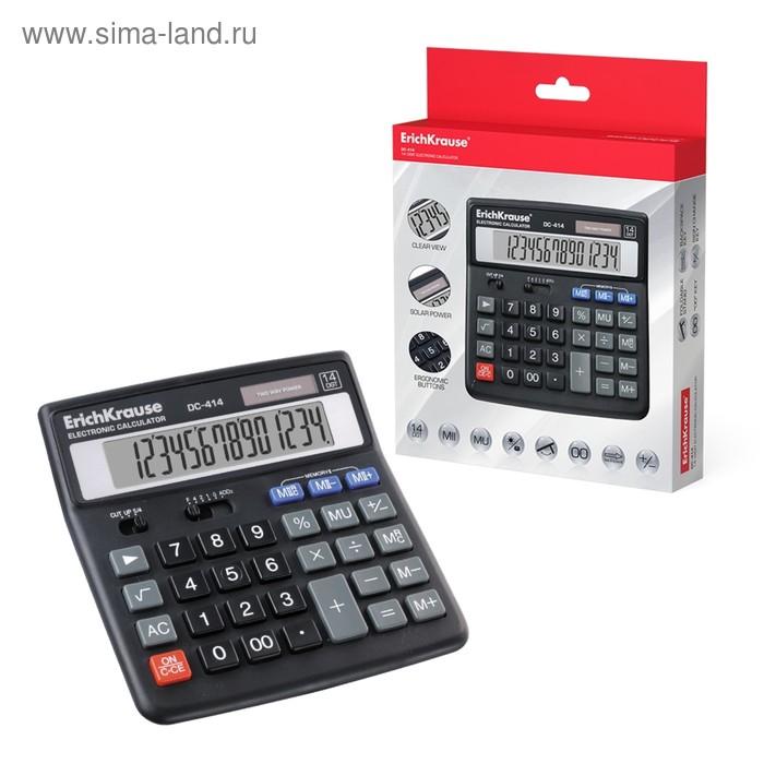 Калькулятор настольный 14-разрядный Erich Krause DC-414, EK 40414