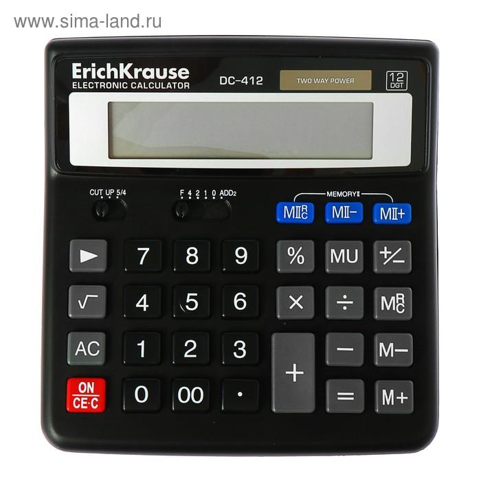 Калькулятор настольный 12-разрядный Erich Krause DC-412, EK 40412