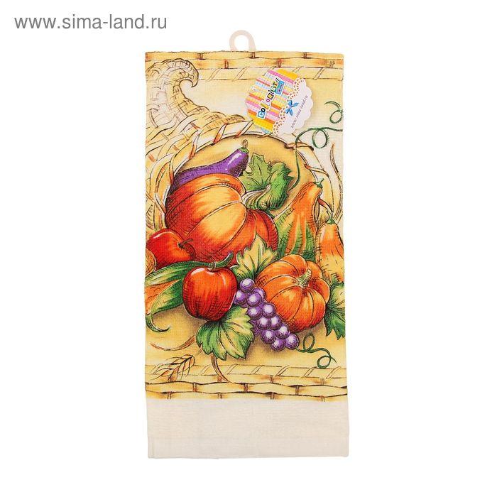 """Полотенце кухонное """"Collorista"""" Pumpkin 35*61 см, 100% хлопок"""