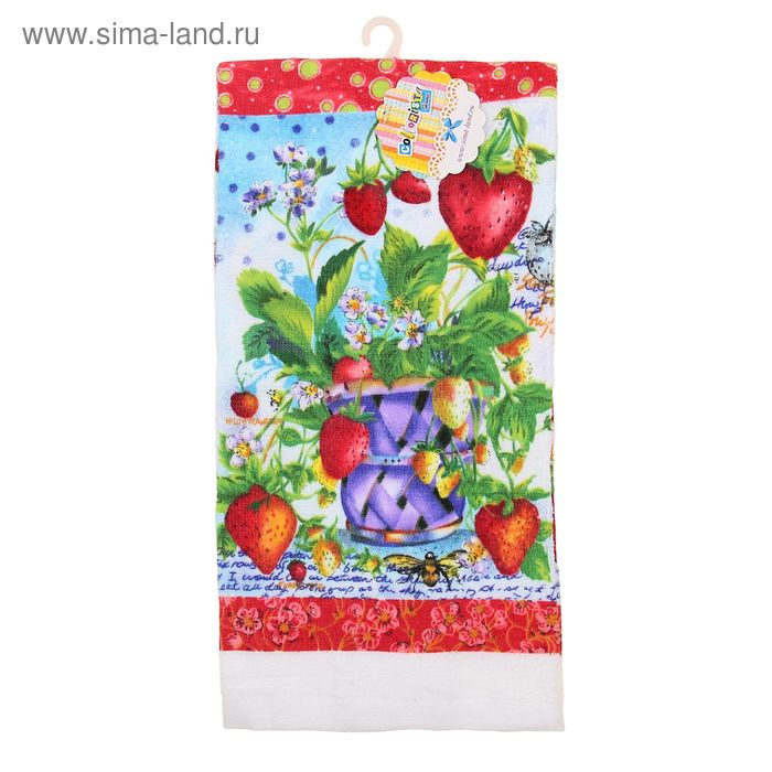 "Полотенце кухонное ""Collorista"" Strawberry 35*61 см, 100% хлопок"