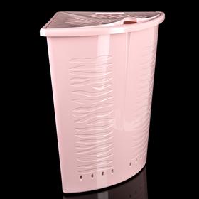 Корзина для белья 40 л угловая Aqua, цвет МИКС