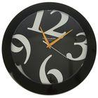 """Часы настенные круглые """"Сочные акценты"""", d=30,5 см, рама чёрная"""