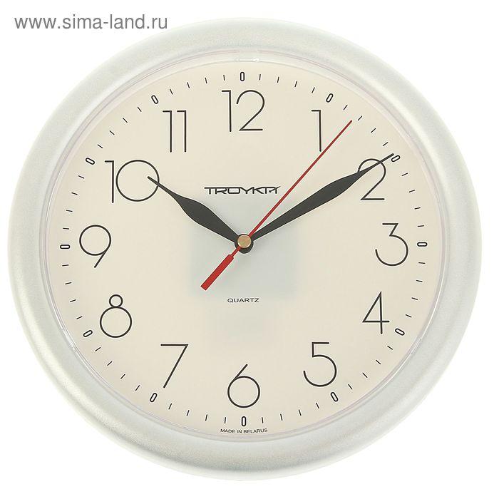 """Часы настенные круглые """"Исток"""", d=24,5 см, серебристые"""