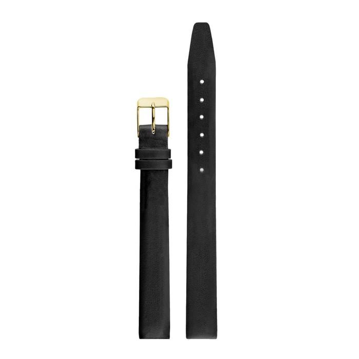 Ремень кожаный женский, присоед. р-р 12 мм, черный