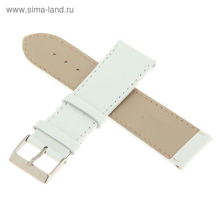 Ремень кожаный, присоед. р-р 24 мм, отделка крокодил