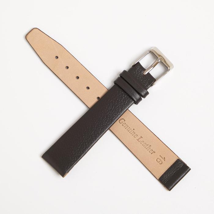 Ремень кожаный присоед. р-р 16 мм, коричневый