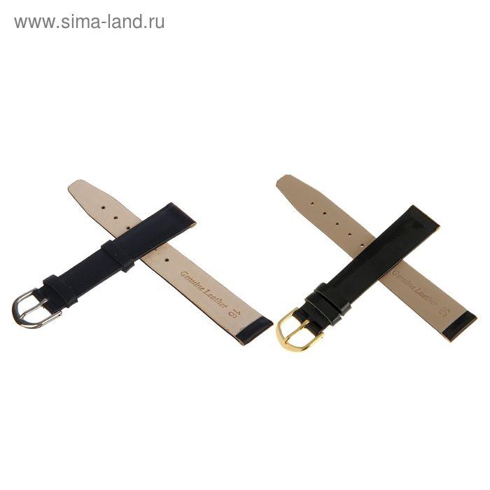 Ремень кожаный, присоед. р-р 16 мм, черный