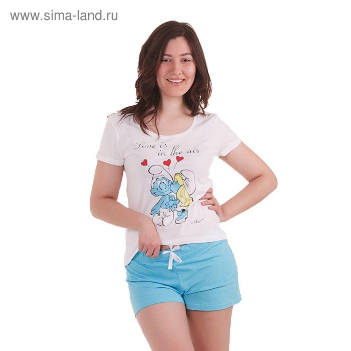 Пижама женская (футболка, шорты) 14с168SM П202, р-р 46