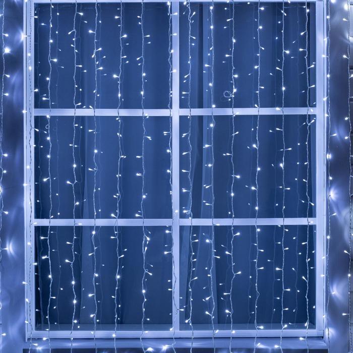 ЗАНАВЕС уличная, УМС, Ш:2 м, В:9 м, Н.Б. 3W LED-1800-220V, БЕЛЫЙ