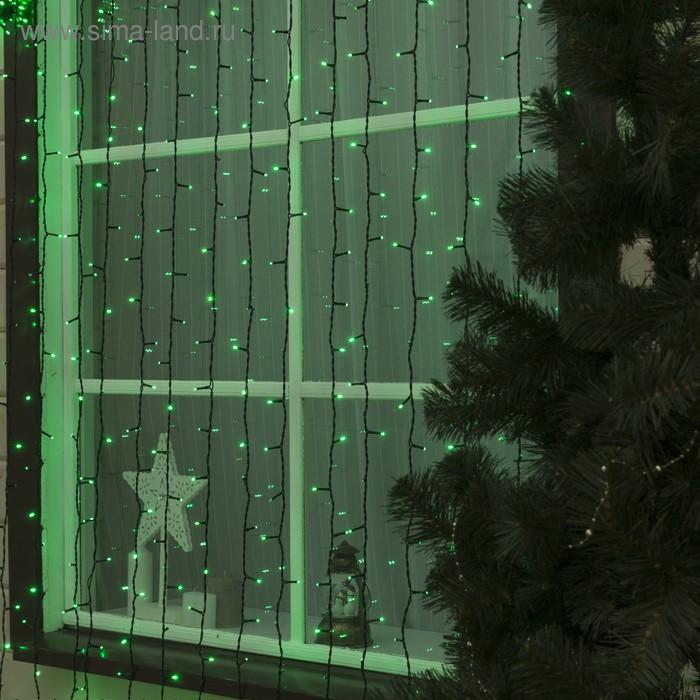 "Гирлянда ""Занавес"" улич. УМС, Ш:2м, В:6м, Н.Т. 2W LED-1440/280-220V, БЕЗ контр. мерц ЗЕЛ"