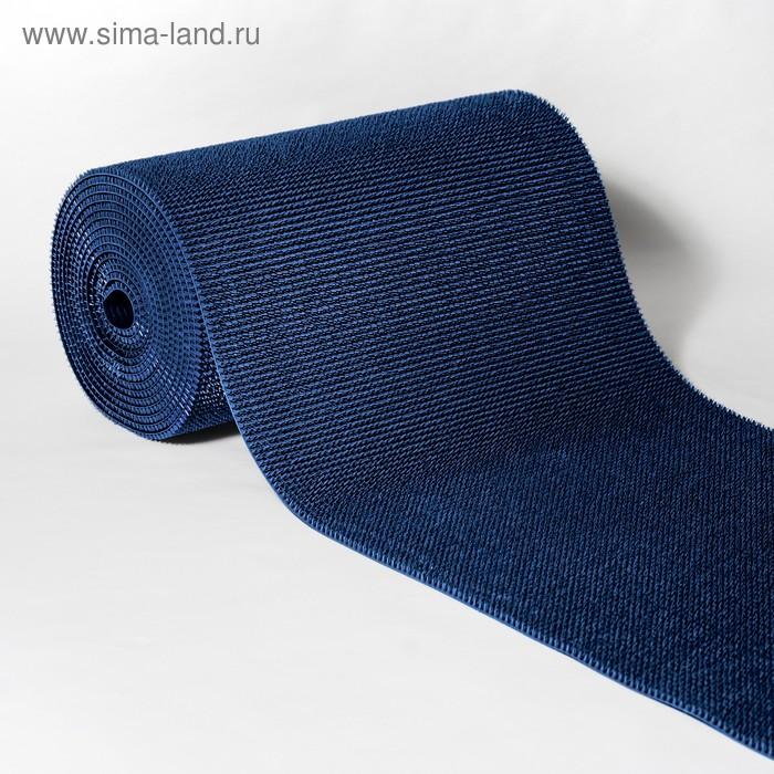"""Покрытие ковровое на основе, щетинистое, ширина 90 см, рулон 15 м """"Травка"""", цвет синий металлик"""