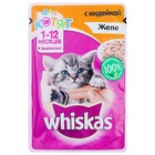 Влажный корм Whiskas для котят, индейка в желе, пауч, 85 г