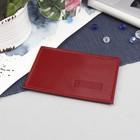 Футляр для карточки, цвет красный