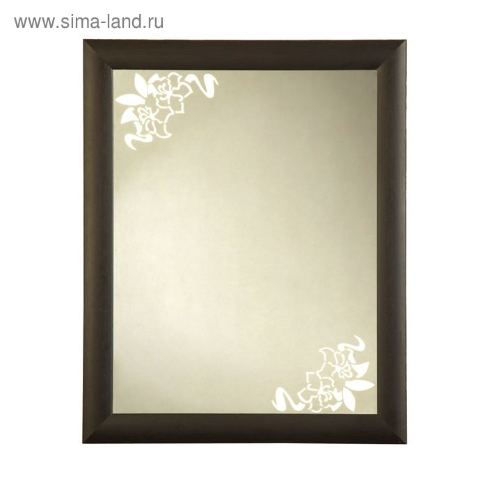 """Зеркало настенное в раме """"Валенсия"""" венге 60х74 см"""