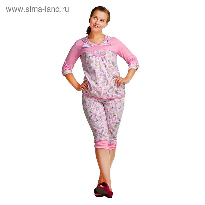 Пижама женская ПЖ-07 МИКС, р-р 54