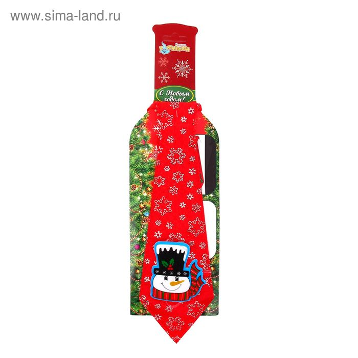 """Карнавальный галстук """"Снеговик"""""""