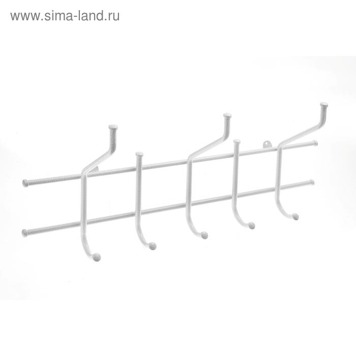 """Вешалка настенная """"Малая"""", цвет белое серебро"""