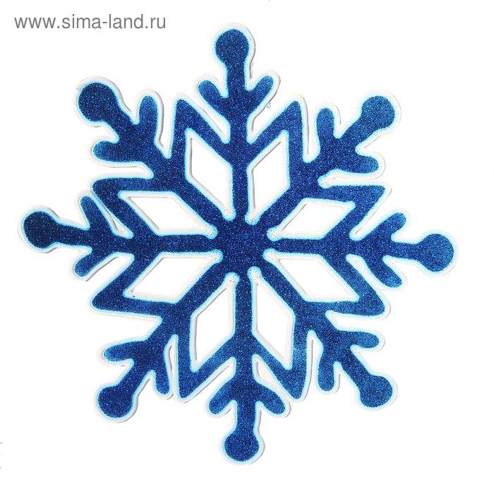 """Наклейка на стекло """"Синяя снежинка"""""""