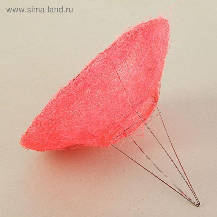 Каркас для букета 25см, сизаль (гладкий), розовый
