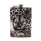 """Фляжка """"Белый тигр"""", 270 мл, серо-чёрная"""