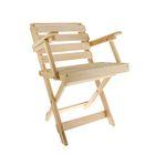 Кресло раскладное с подлокотниками 50*50*90см