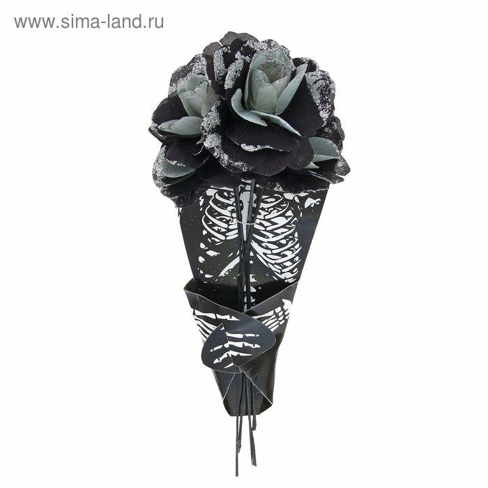 """Букет цветов """"Скелет"""", цвет серебро"""