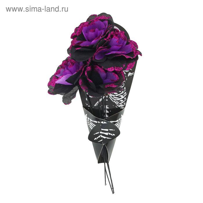 """Букет цветов """"Скелет"""", цвет фиолетовый"""